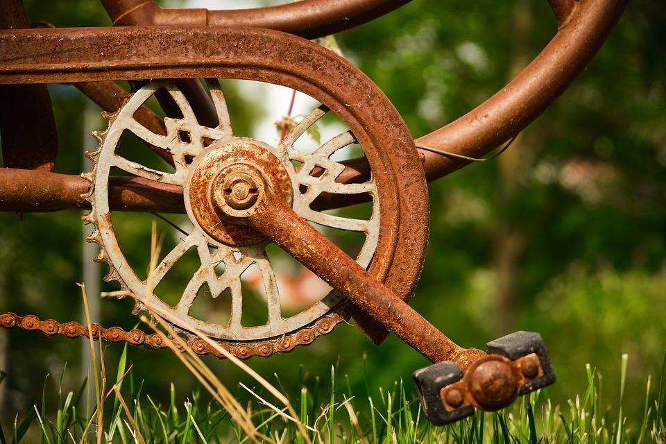 Fahrrad aus Edelrost